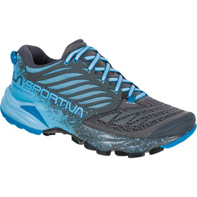 La Sportiva Akasha Running Shoes Women, carbon/pacific blue